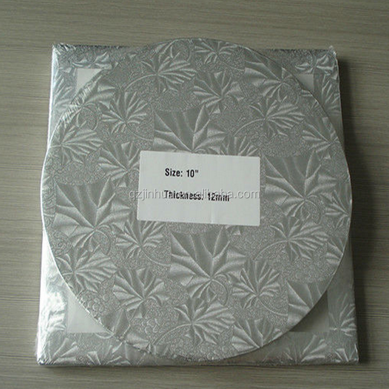 JH Series Round Aluminum Foil Cake Board,Square Gold&Silver Cake Drums,Scalloped Cake Base/Cake Pads