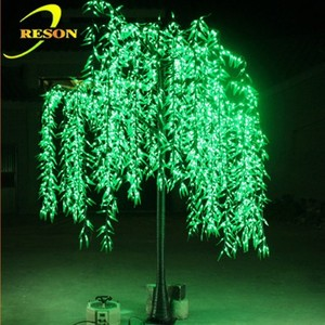 Outdoor 2.5m Height LED Artificial Willow Tree