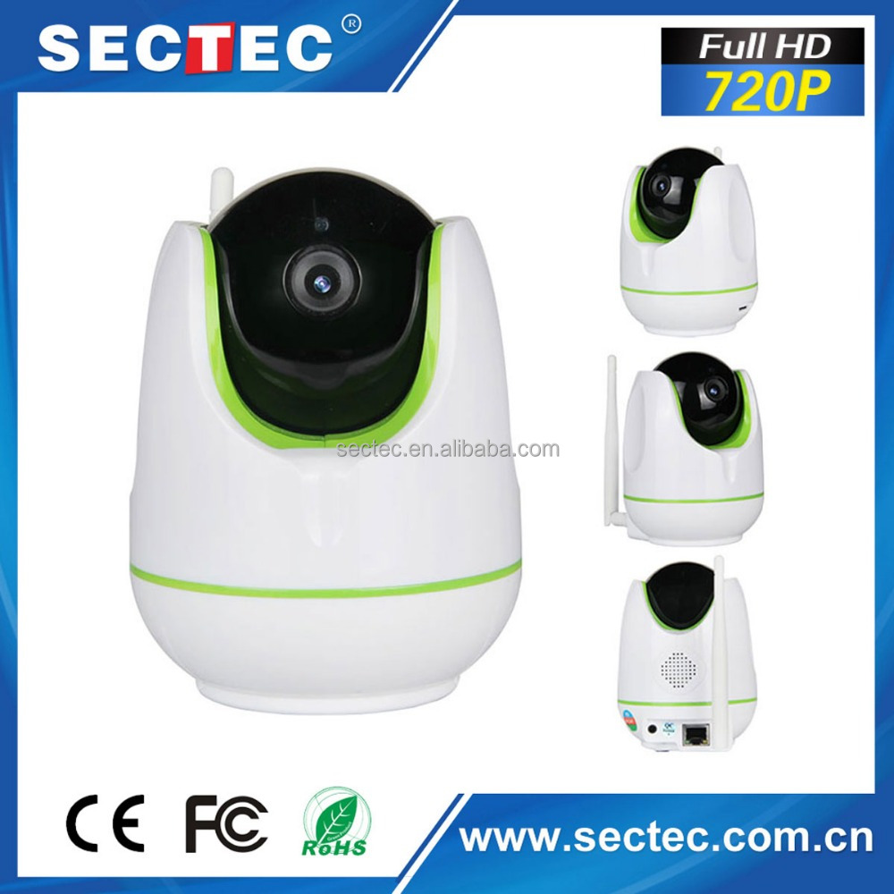 SECTEC Hot-selling WIFI Wireless ONVIF HD 720P Smart Home Kids Security Camera With Aamrm and Motion detection