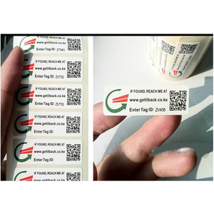 Variable Data Printing Barcode Label QR Code and Serial Number Printed Barcode Sticker 2D Barcode Sticker Label