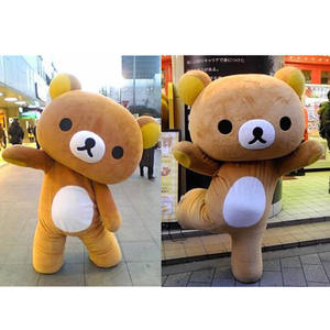 Top quality CE standard custom rilakkuma mascot costumes for adult