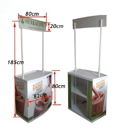 Pvc Abs Material Promotional Stand Portable Demo Table