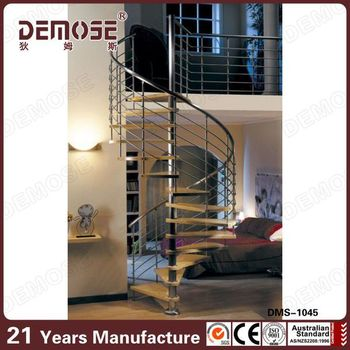 Round Ladder/circular Steel Stair With Anti Slip Strip For Stairs