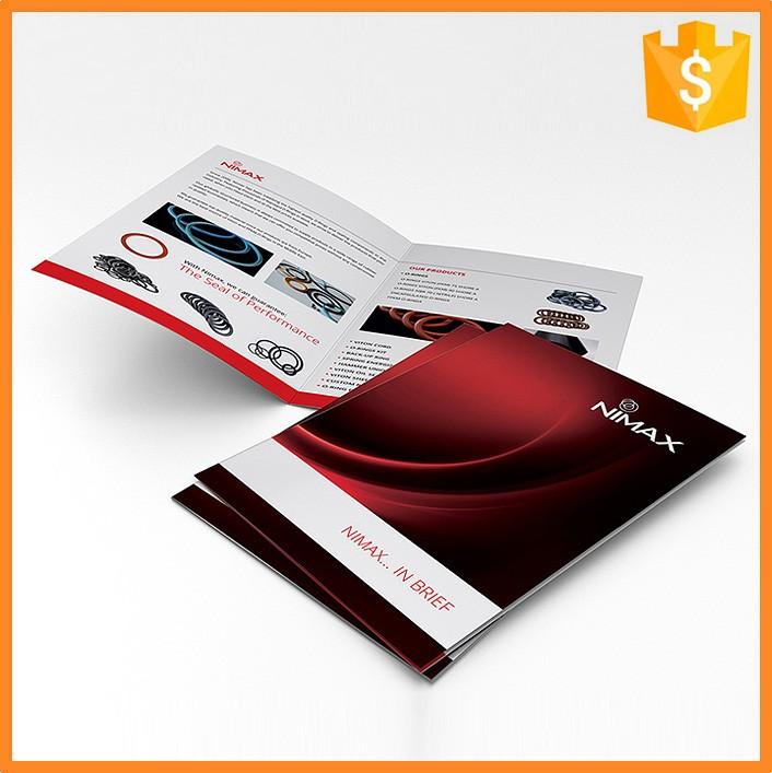 Promotional Offset Printing Art Paper Advertising Brochure Sample