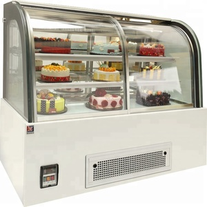 Hot Sell Supermarket Cold Cake Display Refrigerator Glass Fridge Showcase /cake Display Chiller