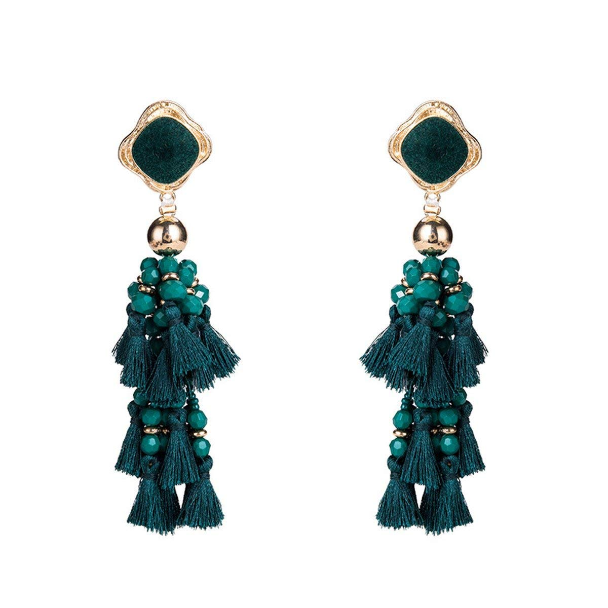 Exaggerated Tassel Earrings Fashion Womens Long Tassel Dangle Earrings Drop  Earrings Elegant 677ccdb0d1d3