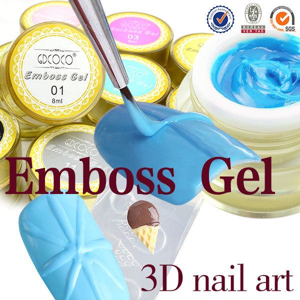 #40269X-02 CANNI Factory Supply Nail Polish GD COCO Brand 3D Stand Nail Art Emboss Gel