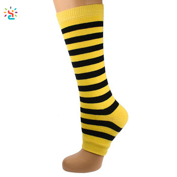 d7d9b0a6f Colorful kids long toeless stripe socks logo teen girl knee high tube  compression sock for children