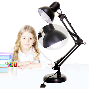 Wholesales E27 lamp holder led adjustable table lamp with swing arm focusing lighting office desk light