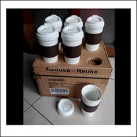 400ml creative mug with lid plastic cups milk tea silicone coffee cup plastic mug cups with lid and sleeves