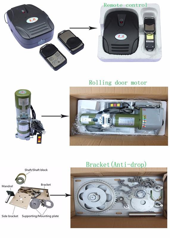 Left or right installation garage overhead door motor for Roller shutter motor installation