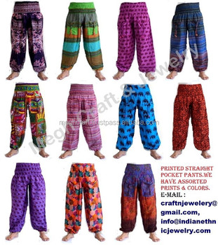 Yoga Boho Gypsy , Yoga femme sarouel , indienne Om impression Yoga Boho  Gypsy sarouel pantalon