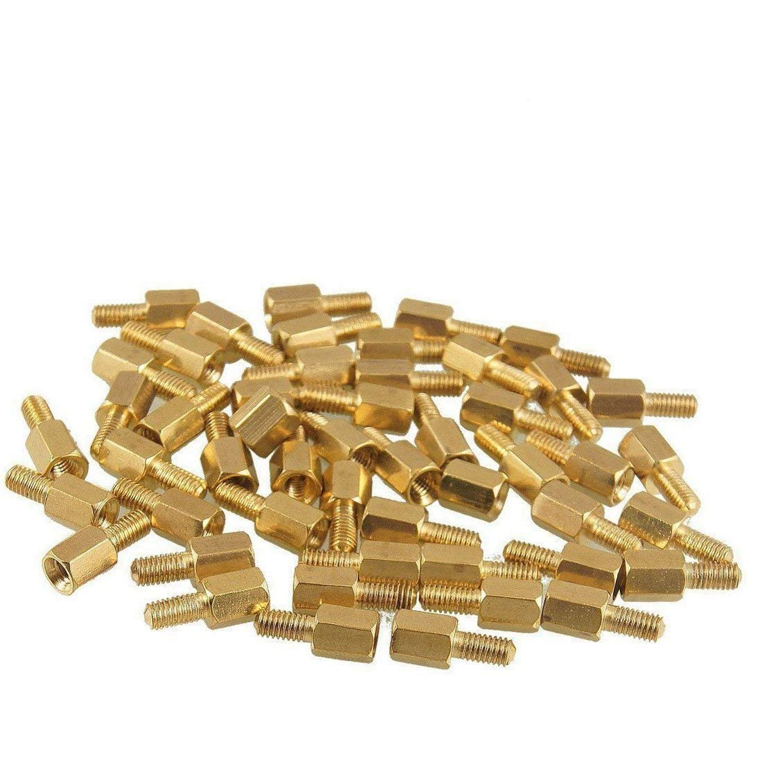 uxcell 50Pcs M3x6mm Male Female Thread Hex Standoff Spacer 12mm Body Length