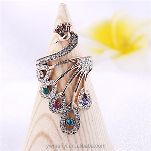 60eaebb254b308 Peacock Design Finger Ring, Peacock Design Finger Ring Suppliers and  Manufacturers at Alibaba.com