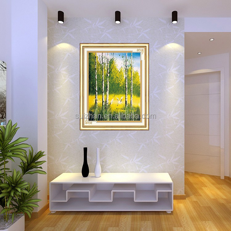 Free Sample Canvas Support Base Diy Diamond Wall Decor Abstract Trees Oil Painting