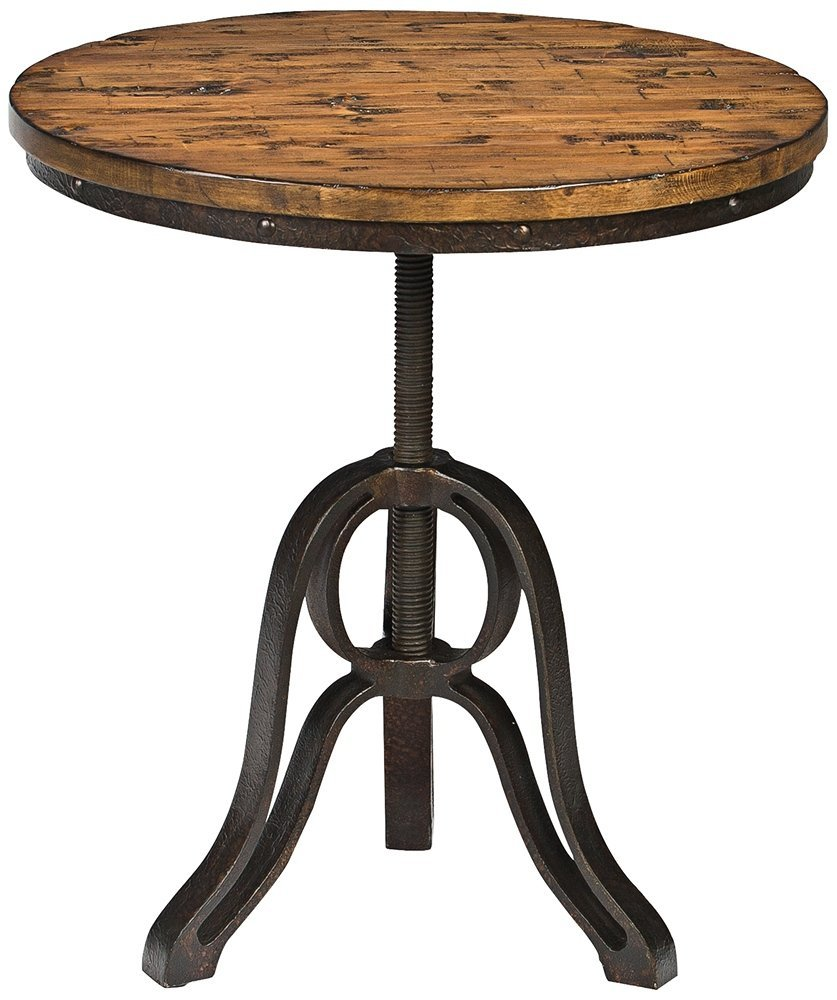 ... Magnussen Cranfill Aged Pine Round Accent Table
