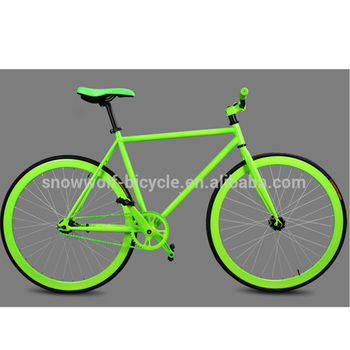 890709e68 Fixie Bike Fixed Gear Bicycle Bicicleta with Steel Frame Flip Flop green  yellow fixie made in