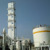Low power consumption industrial liquid nitrogen/oxygen air separation unit
