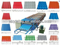Passed CE and ISO YTSING-YD-1240 Colorful Steel Roof Tiles Cold Roll Forming Machine
