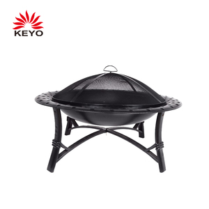 Round Usa Garden Camping Home Hardware Charcoal Log Wood Burning Fire Pit