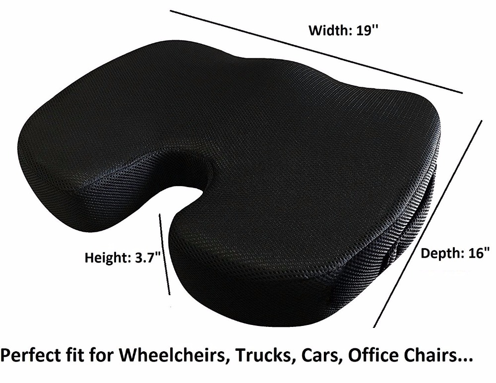 latest design black seat foam cushions cheap wheelchair cushions hot sell seat cushion for back pain