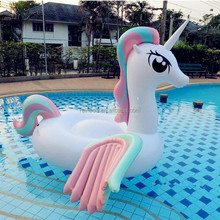 Hot selling newest outdoor swimming pool float giant rainbow inflatable pegasus float