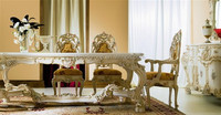 Gorgeous Baroque Furniture European Antique Carving Dining Table with Chairs BF11-07303k