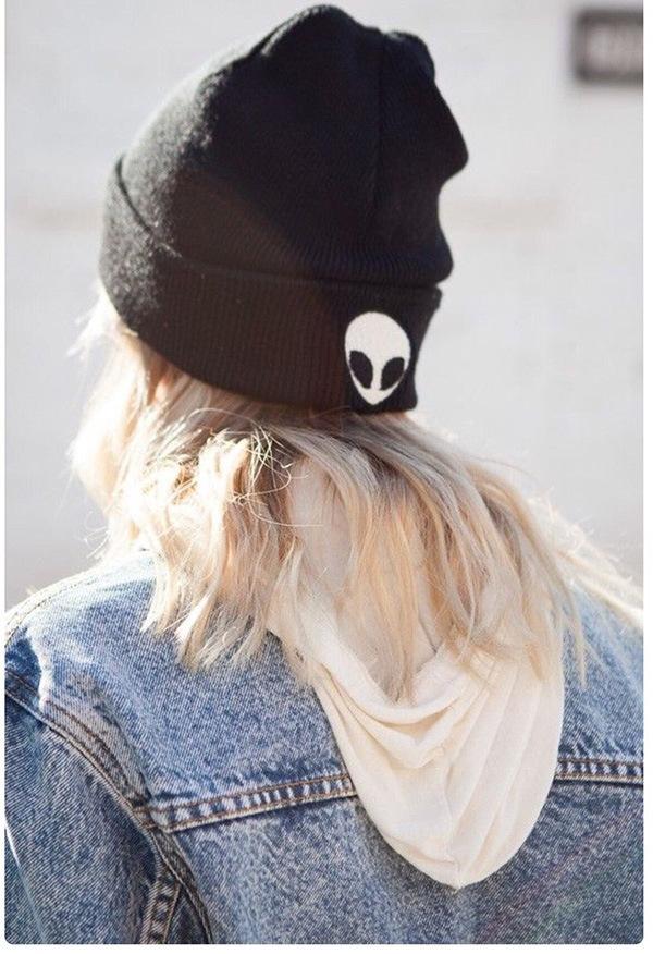 Winter Autumn Fashion Women Beanies Cartoon Alien Knitting Hat Men Hip-Hop Skullies Beanies