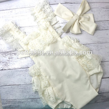 69a469925fec Wholesale Kids Clothing Babe White Lace Romper Baby Girls Bubble Boduysuit  Summer Playsuit