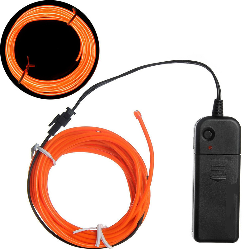 0.9mm/1.4mm/2.3mm/3.2mm/5mm Orange el wire wholesale