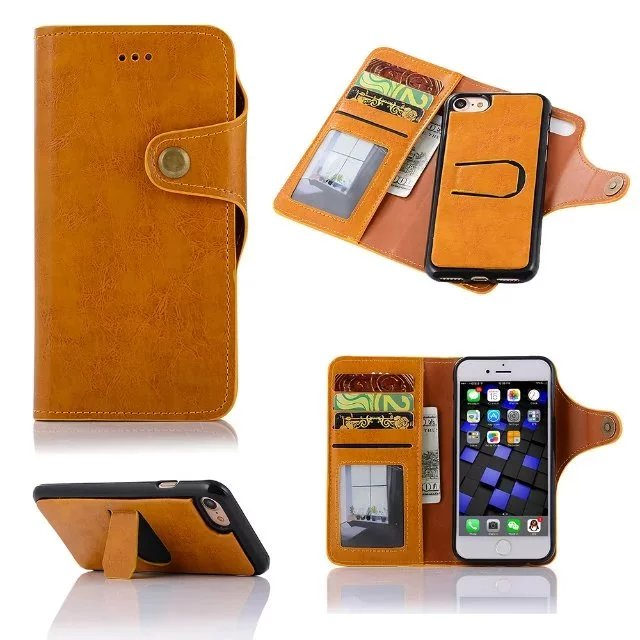 Hot Face Time 3 In 1 Genuine Leather PC Material With Stand Wallet Cases Cell Phone Case For iPhone 6 7