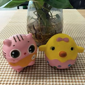 2018 hot sale high quality chick squishies slow rising animal squishies soft toys Pu foam squishies