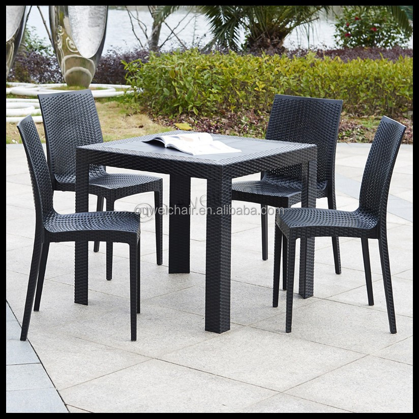 Outdoor Furniture Plastic Rattan Tables And Chairs Garden
