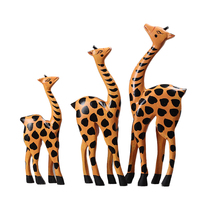 FQ brand wholesale art supplies shapes giraffe toy wooden craft