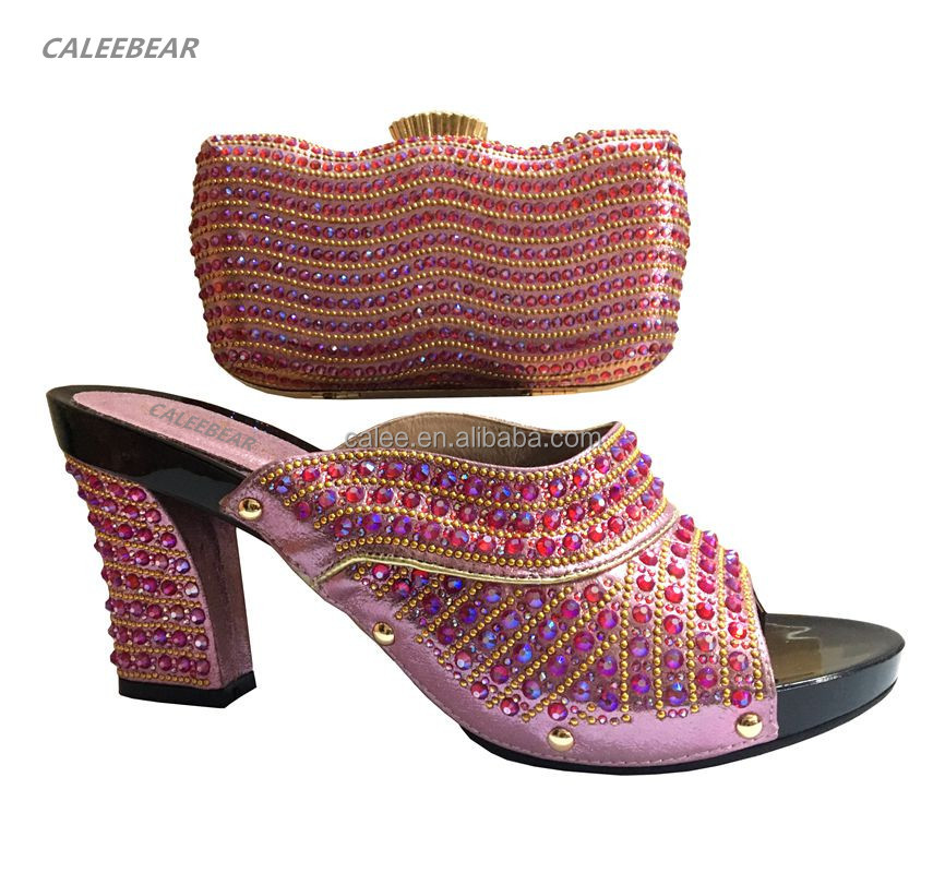 shoes toes African on Open And pump slip ladies china shoes Bag high women Matching heel Wholesale 5tfq0w
