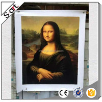 Museum quality 100% handmade mona lisa famous woman portrait oil painting reproduction