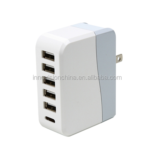 2015 Newest design usb multi charger 5 ports universal charger wholesale mini usb wall charger
