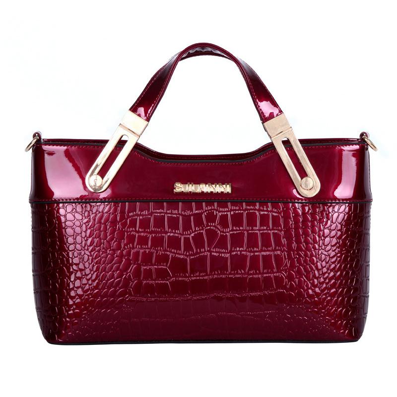 Get Quotations · Hot Sale New 2015 Fashion Desigual Brand Crocodile Women  Handbag Genuine Leather Shoulder Bag Patent Women cad0f4b108