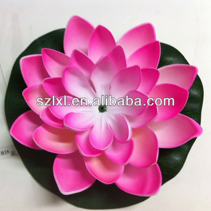 Wholesale Floating Artificial Lotus /Pink Water Lily