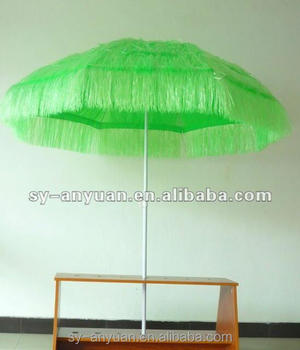 Multi Colors Straw Beach Umbrella Thatched Patio