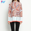 wholesale latest fashion silk blouse women loose big size print long sleeve shirts ladies silk blouse office wear