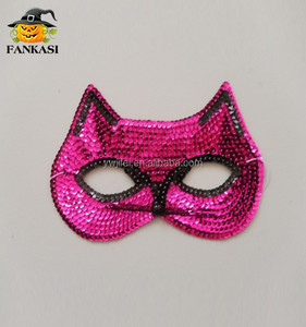 Hot Sequin Pink Kitty Party Face Mask
