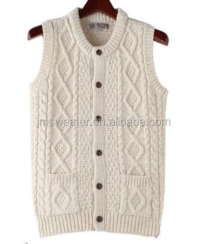 Crochet Knitting Sleeveless Sweater Vest For Men Button Down Buy