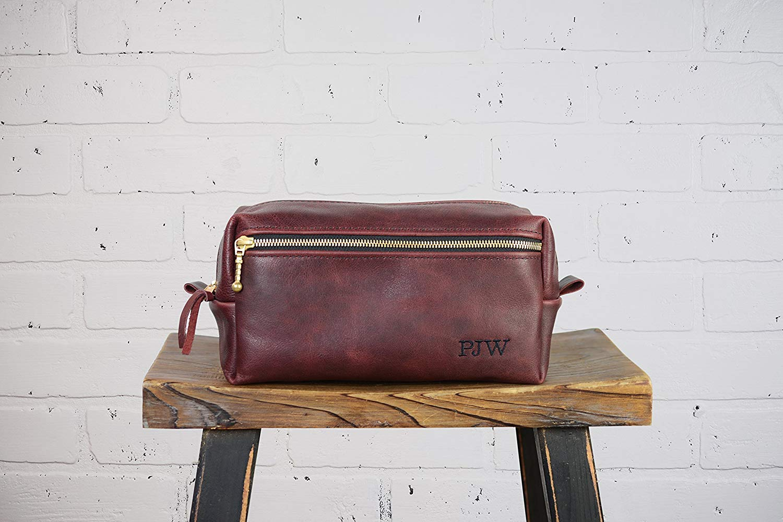 Get Quotations · Personalized Leather Dopp Kit Groomsmen Gift  8e10f9707e7e2