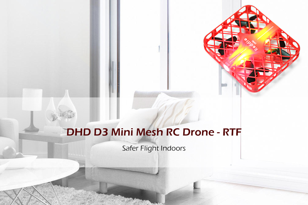 DHD D3 RC Helikopter 2.4 GHz 4CH 6-axis Quadcopter Satu Kunci Kembali/Mainan Mini Drone Headless Modus RTF