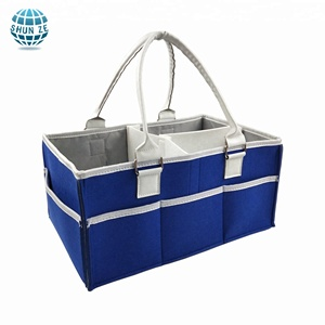 2018 Shopping Websites Harmonium Price Custom Polyester Felt Fabric Professional Mummy Baby Diaper Storage Caddy Bags Organizer