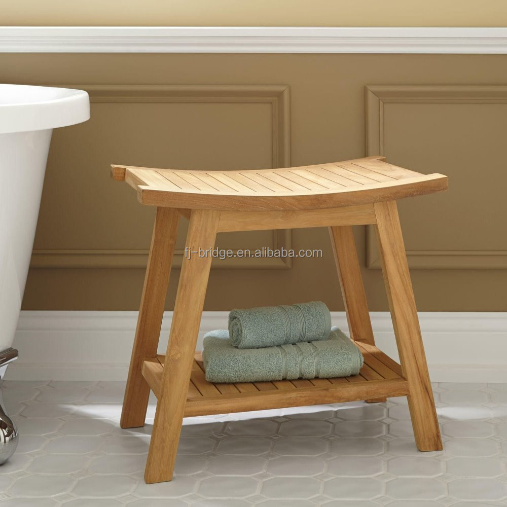 A Gracefully Curved Bamboo Shower Seat - Buy Bath Stool,Bamboo ...