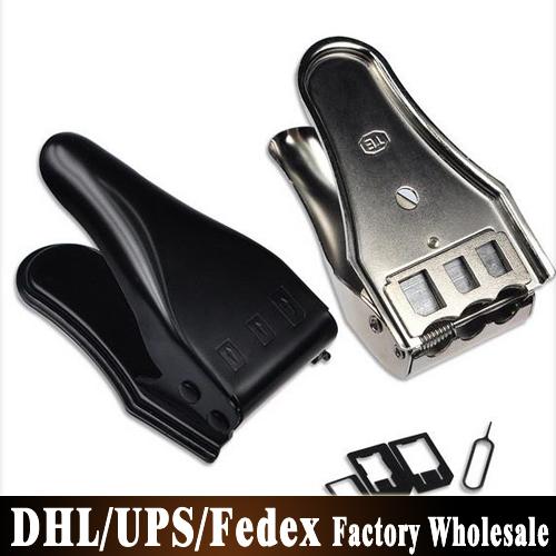 Бесплатный DHL Fedex 100 шт./лот 3 в 1 Nano микро сим-адаптер картонорезальные для iPhone 6 плюс 5 5S Samsung Nano SIM + бесплатная адаптер SIM карты
