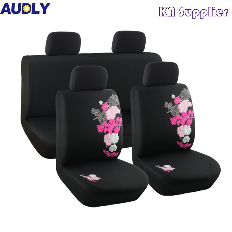 China Flower Design Car Seat Cover Wholesale