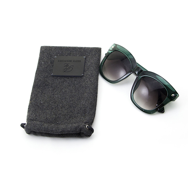 Custom Logo Printed Eco Felt Glasses Storage Case Cellphone Mobile Phone Carry Pouch Bag with Drawstring